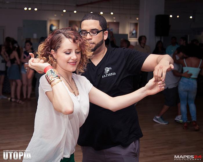 isabel freiberger salsa dancing at utopia