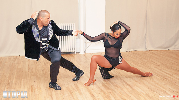 alex and desiree salsa dance performance at utopia