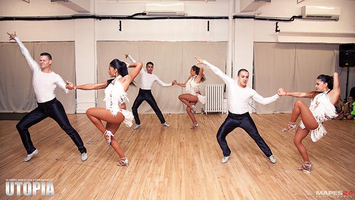 baila conmigo salsa dance performance at utopia