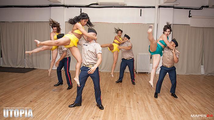 d'cor latin dance performance at utopia