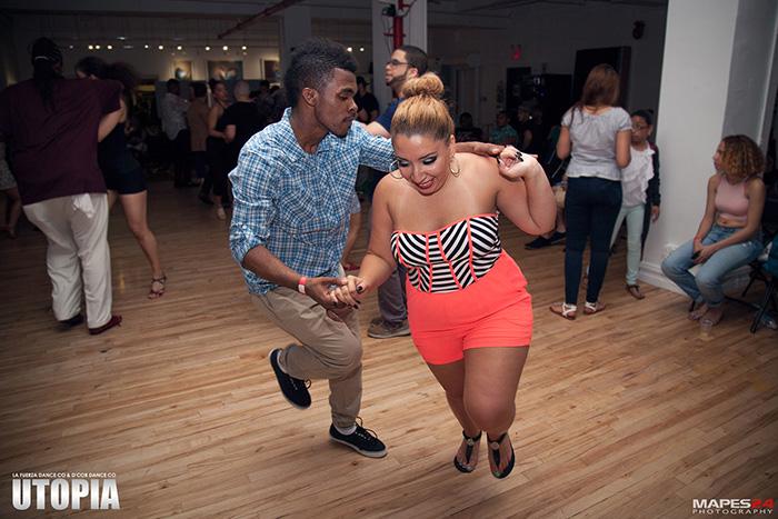 social dancing bachata and salsa at utopia