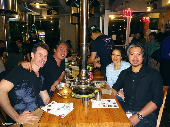 kang hodong baekjeong nyc friends dinner