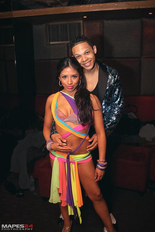 salsa dancers in costume