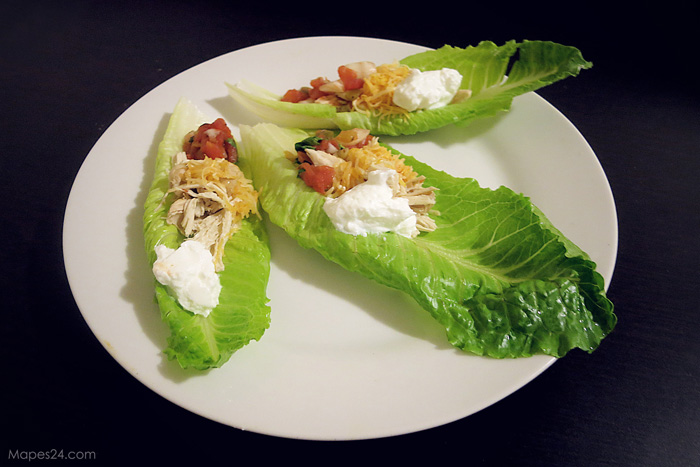 tacos made with lettuce instead of taco shells