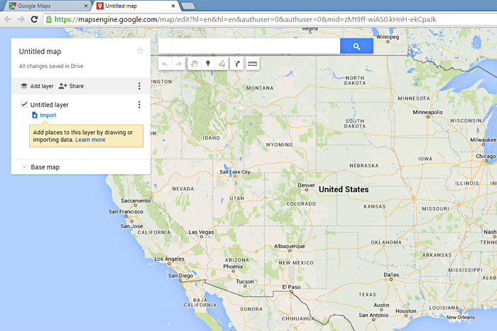 directions for using custom google maps