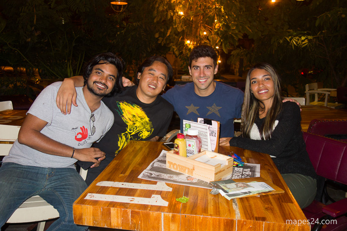 photo of friends after great meal at chef burger restaurant in medellin colombia