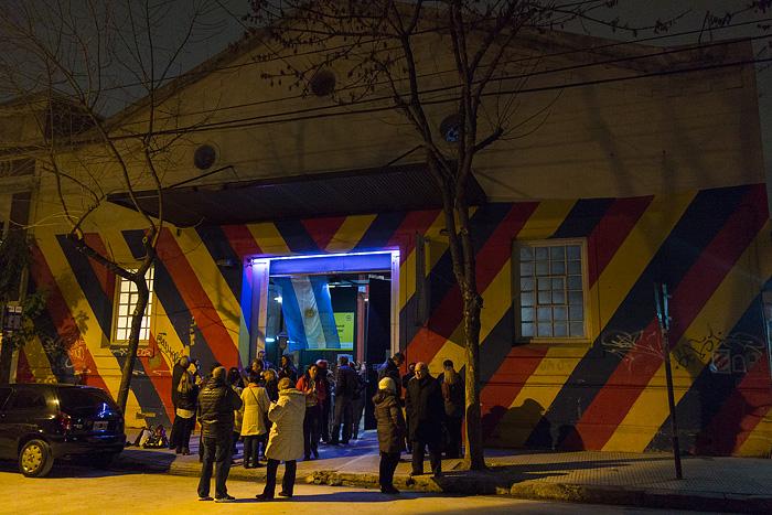 outside of the espacio cultural carlos gardel